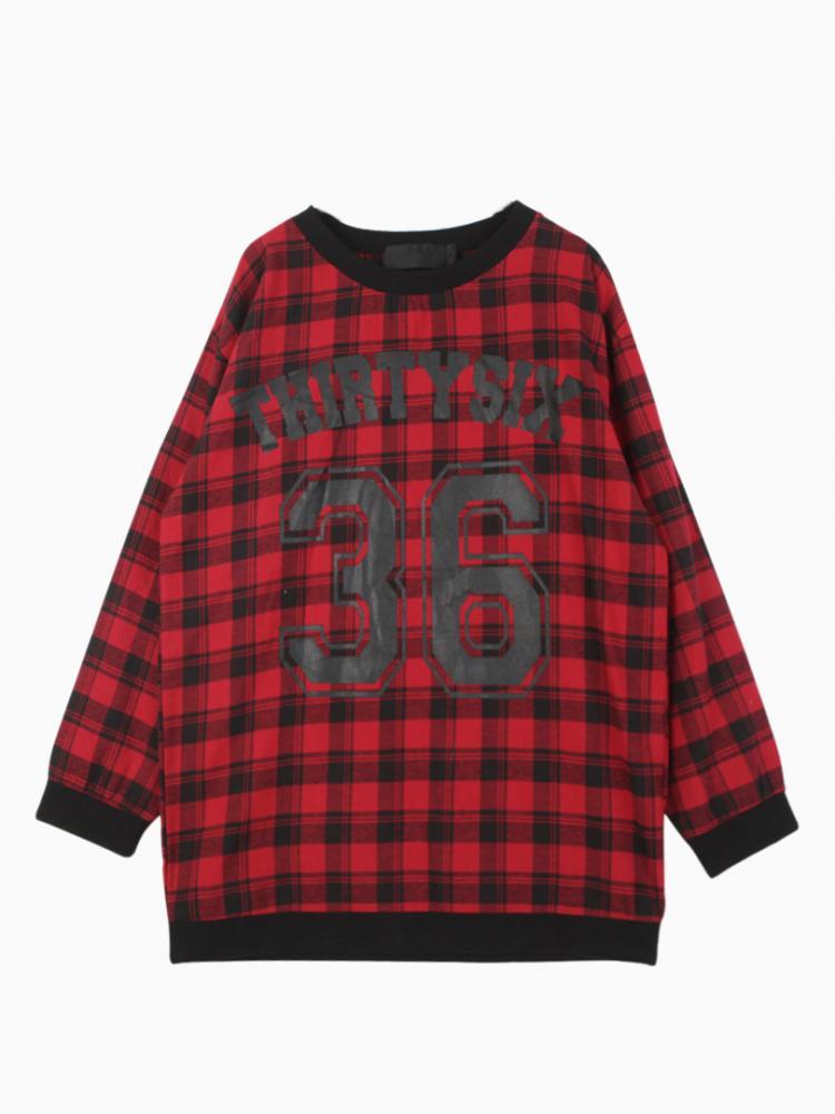No.36 Red Striped Sweatshirt | Choies