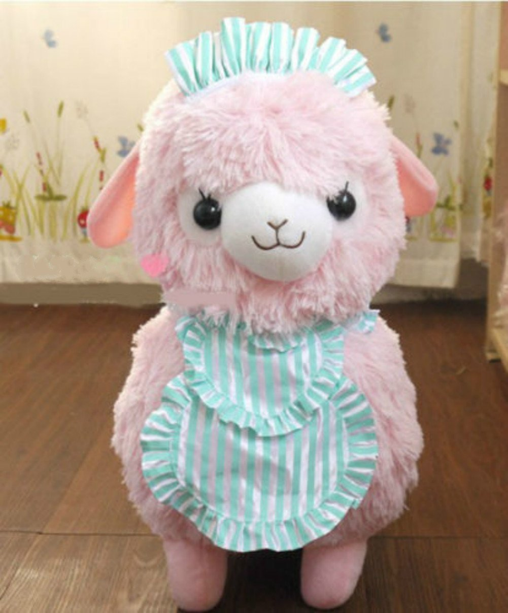 Amazon.com: New Pink 45cm Arpakasso Alpacasso Alpaca Plush Toy Cafe Waiters and Maids: Toys & Games