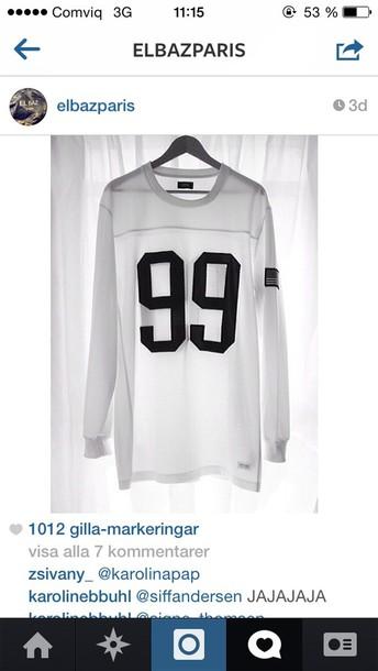 sweater white black number number football football shirts long sleeves long sleeves long sleeves longsleeve shirt