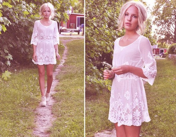 dress white short dress white dress lace lace dress