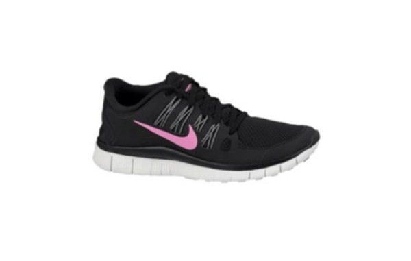 shoes nike nike free run nike free 5.0 pink black