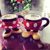 home accessory,mug,couple,mickey mouse,minnie mouse,disney