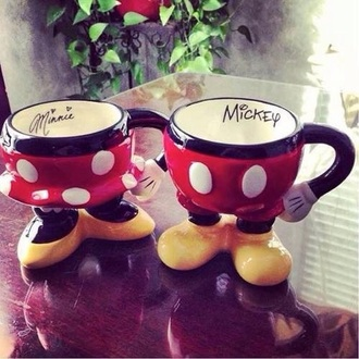 home accessory mug couple mickey mouse minnie mouse disney
