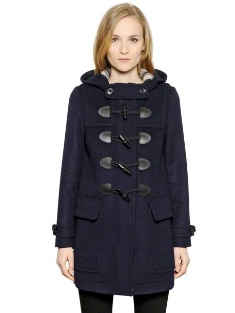 Burberry Brit coat duffle coat wool dark