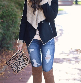 life & messy hair blogger coat jeans bag shoes sweater