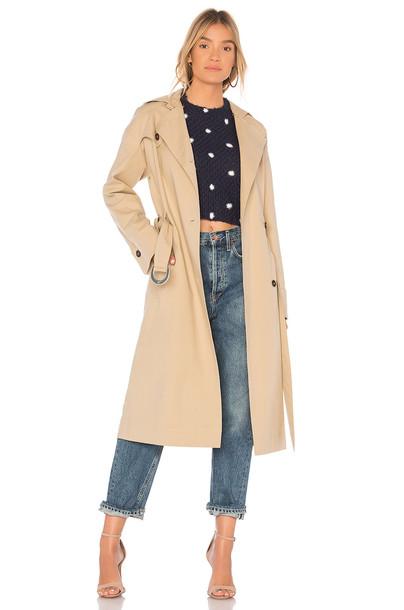 Nanushka coat tan