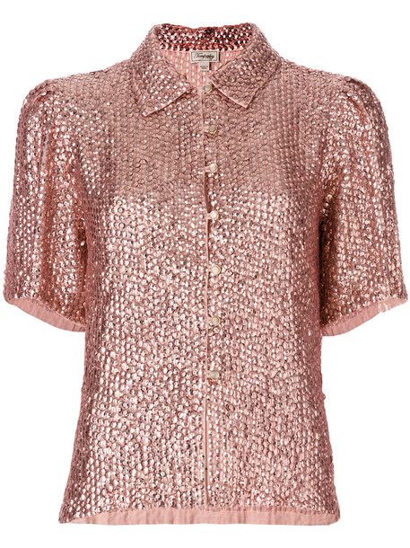 Temperley London - Tiara top - women - Viscose - 12, Pink/Purple, Viscose