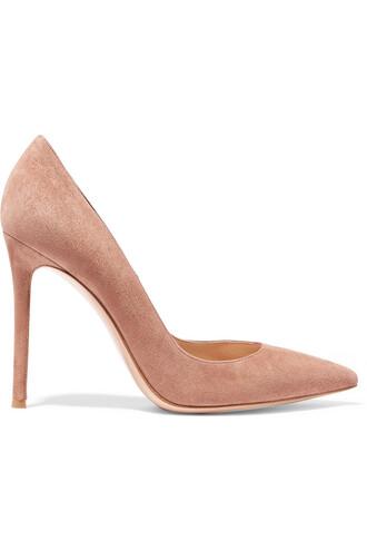 suede pumps pumps suede beige shoes