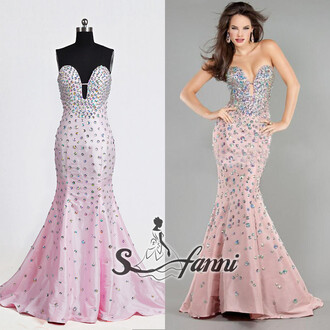 evening dress prom dress prom gown mermaid dress pink dress jovani jovani crystals dresses dress