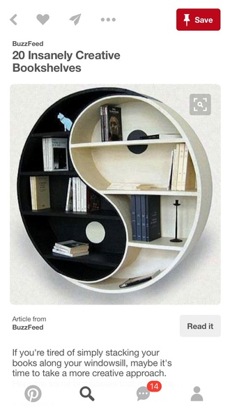 home accessory black and white home decor yin yang book shelve