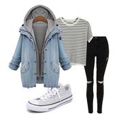 coat,denim,boyfriend,hooded coat,denim coat,ootd,fashion,fall outfits,shein