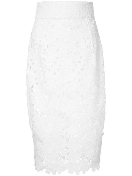 Bambah skirt mermaid skirt women mermaid lace white cotton
