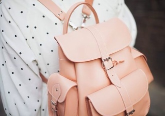 bag elegant pink backpack vintage pastel pink pastel bag