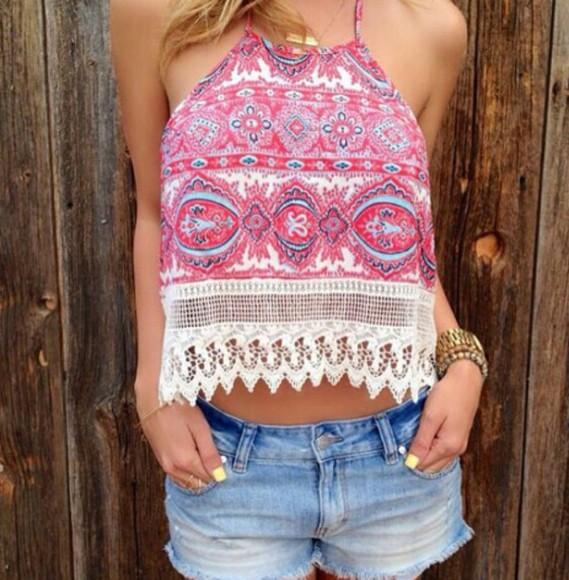blouse tank top etnic