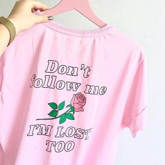 t-shirt yeah bunny pink pastel lost