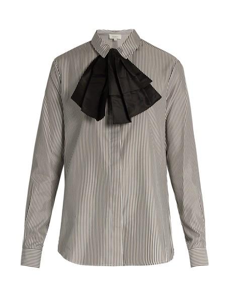ISA ARFEN shirt bow classic white top