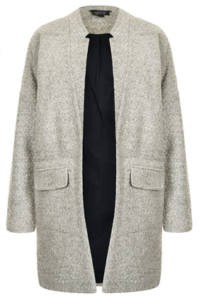 Notch Neck Throw On Coat - Boyfriend & Cocoon Coats - Jackets & Coats  - Clothing - Topshop