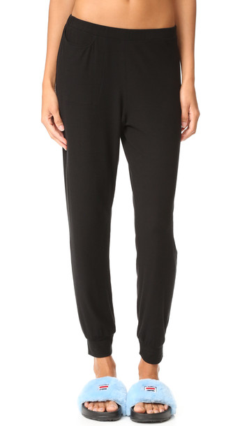 Only Hearts Featherweight Rib Lounge Pants - Black
