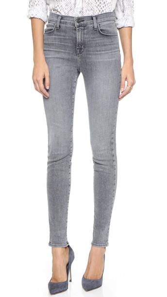 J Brand Maria High Rise Skinny Jeans - Dove