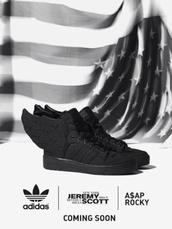 shoes,black,adidas,wings,a$ap rocky,adidas ;a$ap rocky