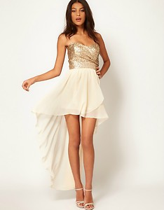 TFNC Dress with Sequin Bandeau and Hi Lo Skirt | eBay