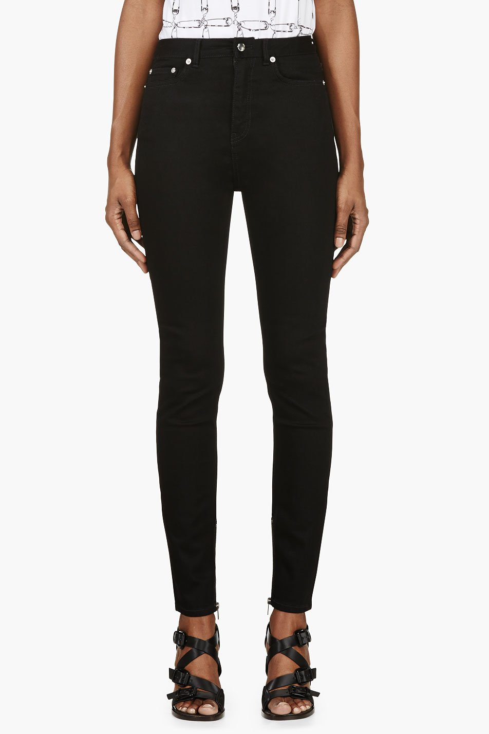 Blk dnm black high waist skinny jeans