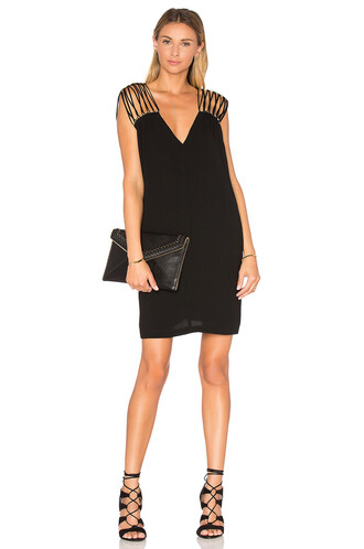 dress shift dress v neck black