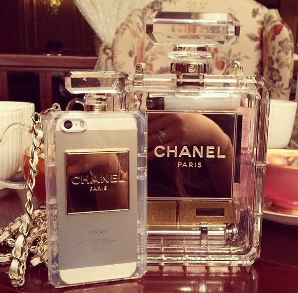 Chanel perfume bottle iphone 5/6 case by mir