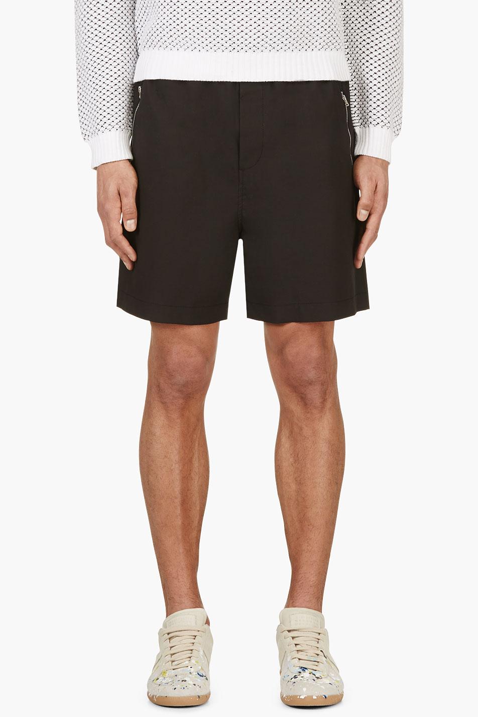 Marni black stretch waist shorts