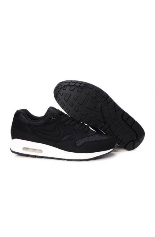 Nike air max 1 trainers black smoke white men's