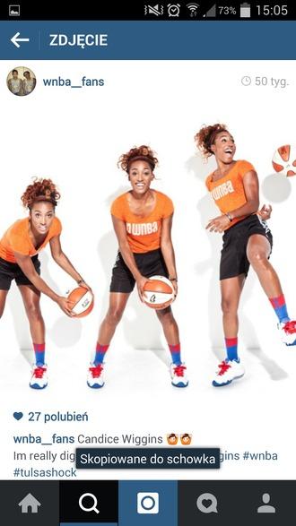t-shirt wiggins wnba player orange basketball t-shirt basketball