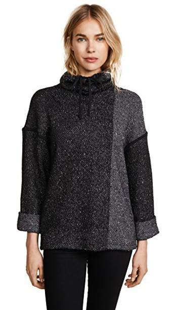 sweater loose knit black