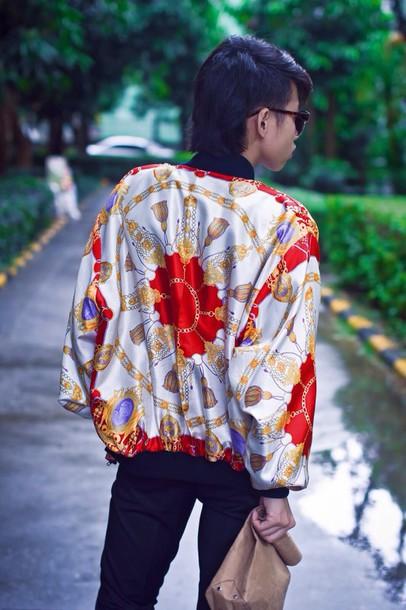 Jacket Vintage Vintage Jacket Street Bomber Jacket Bombjacket 90s Style Style Fashion ...