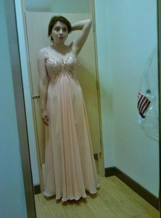 dress prom dress peach dress pretty dress