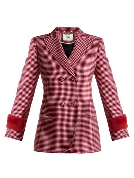 jacket wool jacket wool red