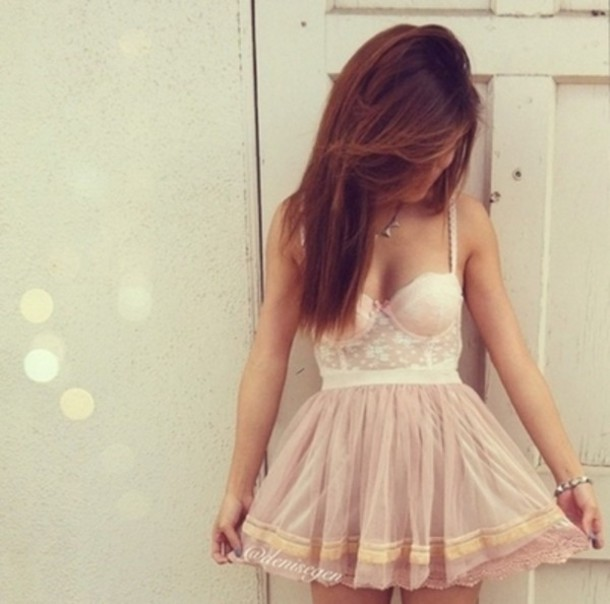 dress girl skirt flirty pink stylish