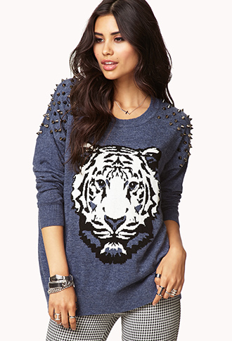 Standout spiked sweater