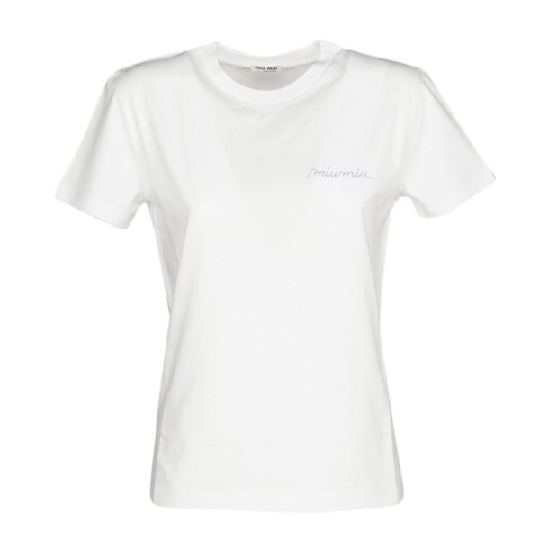 Miu Miu t-shirt shirt t-shirt print white top