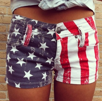 shorts american flag shorts denim shorts