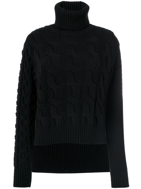 Mm6 Maison Margiela sweater women turtle black wool knit