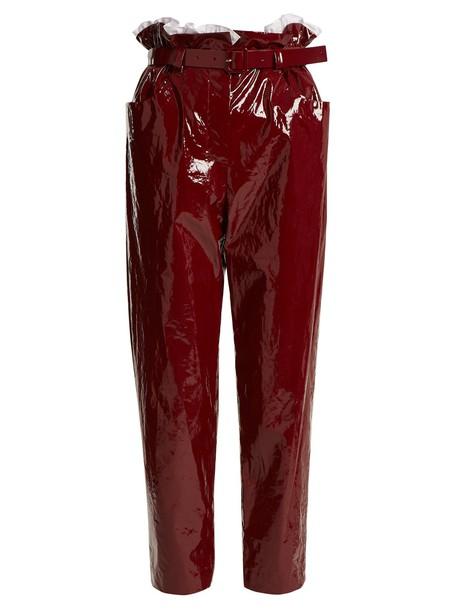 ISA ARFEN cropped dark dark red red pants