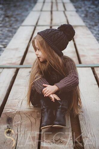 hat girl toddler beenie fall outfits fashion kids fashion pom pom beanie