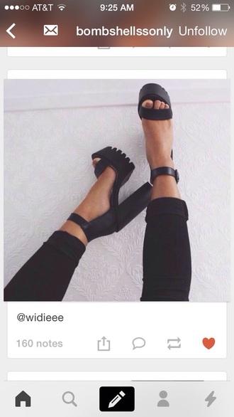 shoes black heels black high heels high-heels shoes