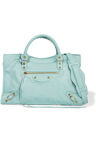leather turquoise bag