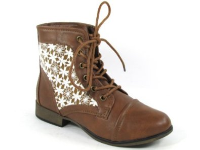 30 crochet round toe lace up bootie: shoes