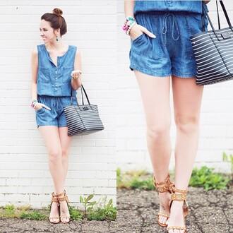 romper denim romper love denim shorts casual style summer shorts trendy