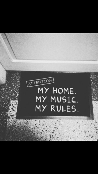 carpet funny blanck and white true quote on it funny quote home accessory home decor earphones