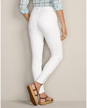 Slightly curvy skinny ankle zip jeans