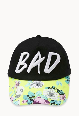 hat bad tomboy floral flowers snapback