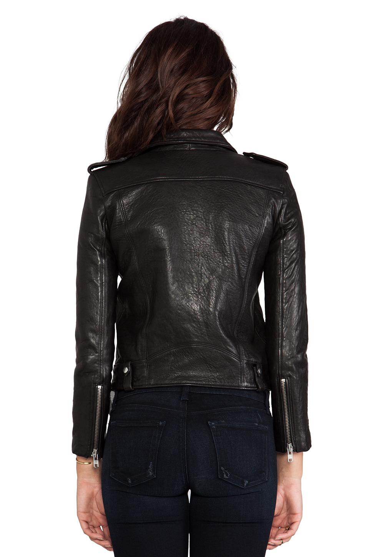 Iro ebeyna leather moto in black